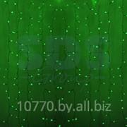 """Гирлянда """"Светодиодный Дождь"""" 2х1,5м, постоянное свечение, прозрачный провод, 220В, диоды ЗЕЛЁНЫЕ, NEON-NIGHT фото"""