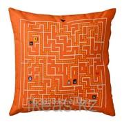 Подушка, белый, оранжевый СЛИНГРИГ фото