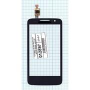 Сенсорное стекло (тачскрин) для Alcatel OneTouch M'POP 5020D черный, Диагональ 4 фото