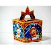 Новогодняя упаковка Кубики-зверята (голубой) фото