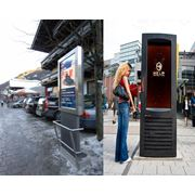 Антивандальный медиа комплекс видео вывеска уличная цифровая вывеска фото