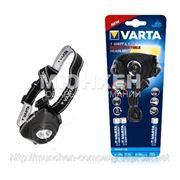 Фонарик VARTA 17731 Power Line Indestructible 1 Watt LED Head Light 3AAA фото