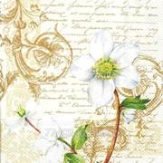 Салфетка для декупажа Белый винтажный цветок фото