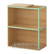 Комбинация для хранения,верхняя панель, бамбук, светло-зеленый ИКЕА фото