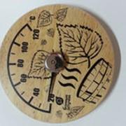 Термометр с гигрометром Листья фото
