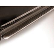 Пороги Chery Tiggo 5 2014-наст.время (с листом черный квинтет 57 мм) фото