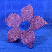 Каркас для букета сизаль цветок 25см сирень фото
