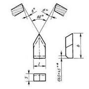 Пластина типа 11 для резьбовых резцов ГОСТ 25398-90 фото