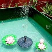 Фонтан на солнечных батареях для сада или искусственного озера во дворе фото