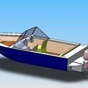Проектирование лодок алюминиевых под заказ Украина Киевская область фото