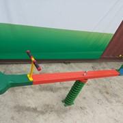 Качеля пружинка балансир лицом к лицу (2 места) Бейсик D. БD003 фото