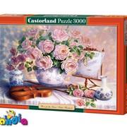 """Пазлы Castorland 3000 """"Вечерние розы.Копия Триши Хардвик"""" фото"""