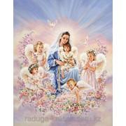 Картина по номерам Дева Мария с ангелами фото