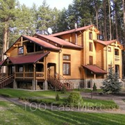 Дома деревянные из оцилиндрованного бревна (срубы) в Алматы, в Астане фото