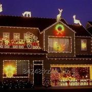 Новогоднее оформление фасадов зданий фото