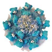 Букет из мягких игрушек Голубая мечта 7046 фото