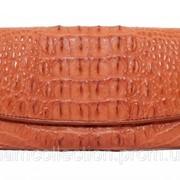 Кошелёк из кожи крокодила PCM 03 CB Tan фото