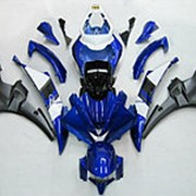 Мото пластик комплект Yamaha YZF-R6 2006 сине-бело-серый фото