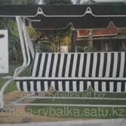 Качеля садовая раскладная кровать с крышей 210х120х160 см фото