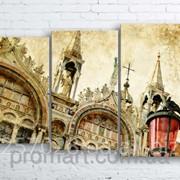 Модульна картина на полотні Венеція. Сан-Марко код КМ100160-077 фото