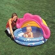 Детский надувной бассейн с тентом Sunshade Baby Pool фото