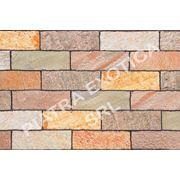 Камень натуральный облицовочный 10х30см цвет: KK WHITE фото