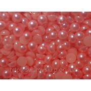 Полужемчуг розовый 5мм (100шт) фото
