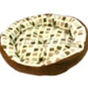 Лежак круглый Фаворит 40 см (коричневый) фото