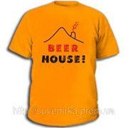 """Футболки с пиво-водочными приколами """"Beer House"""" фото"""