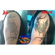 Исправление и перекрытие старой татуировки фото