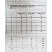 Размерная таблица фото