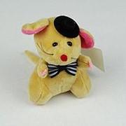 Мышка с бантиком мягкая игрушка на присоске 11см уп/12 фото