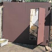 Ворота металлические гаражные, распашные фото