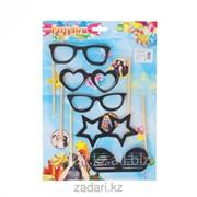 Аксессуары для фотосессии на палочке Гламурные очки фото