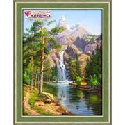 """Картина стразами """"Горный водопад"""" АЖ-1347 фото"""