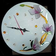 """Часы фьюзинг """"Орхидеи"""" от производителя фото"""