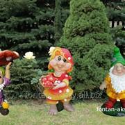 Фигурка Гном с грибом и улиткой -малый фото