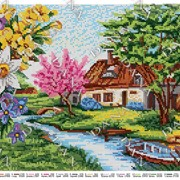 Схема для вышивки бисером Времена года.Весна фото