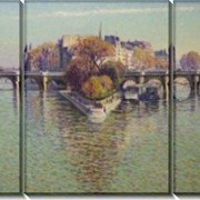 Картина модульная Влюбленные на берегу реки фото