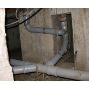 Замена канализационных труб фото