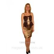 Шикарное выпускное платье с баской 1130 фото