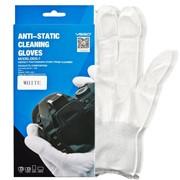 Антистатические чистящие перчатки из нейлона (белого цвета) фото