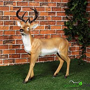 Фигура садовая Олень с рогами фото
