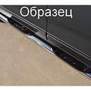 Пороги VW Amarok 2010-2012 (вариант 3 труба с накладками 76 мм) фото