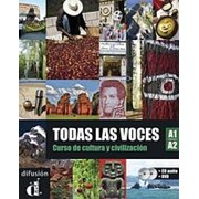 Cesar Chamorro, Matilde Martinez, Nuria Murillo, Alejandro Saenz Todas las voces A1-A2 Libro del alumno + CD + DVD фото