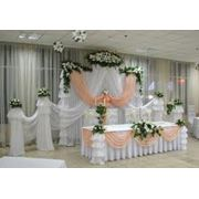 Свадебное оформление банкетных залов фото