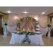 Оформление свадеб тканью и цветами фото