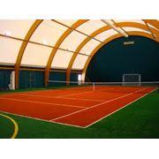 Строительство теннисных кортов фото