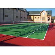 Укладка спортивных покрытий для теннисных кортов в Казахстане фото