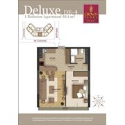 Элитные квартиры. 2-х комнатные квартиры deluxe в Crown Plaza Park фото